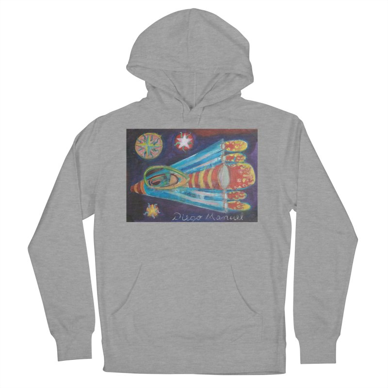 spaceship Men's French Terry Pullover Hoody by diegomanuel's Artist Shop