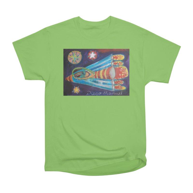 spaceship Men's Heavyweight T-Shirt by diegomanuel's Artist Shop