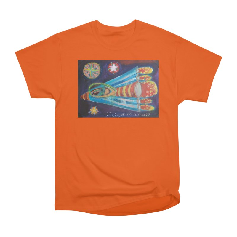 spaceship Women's Heavyweight Unisex T-Shirt by diegomanuel's Artist Shop