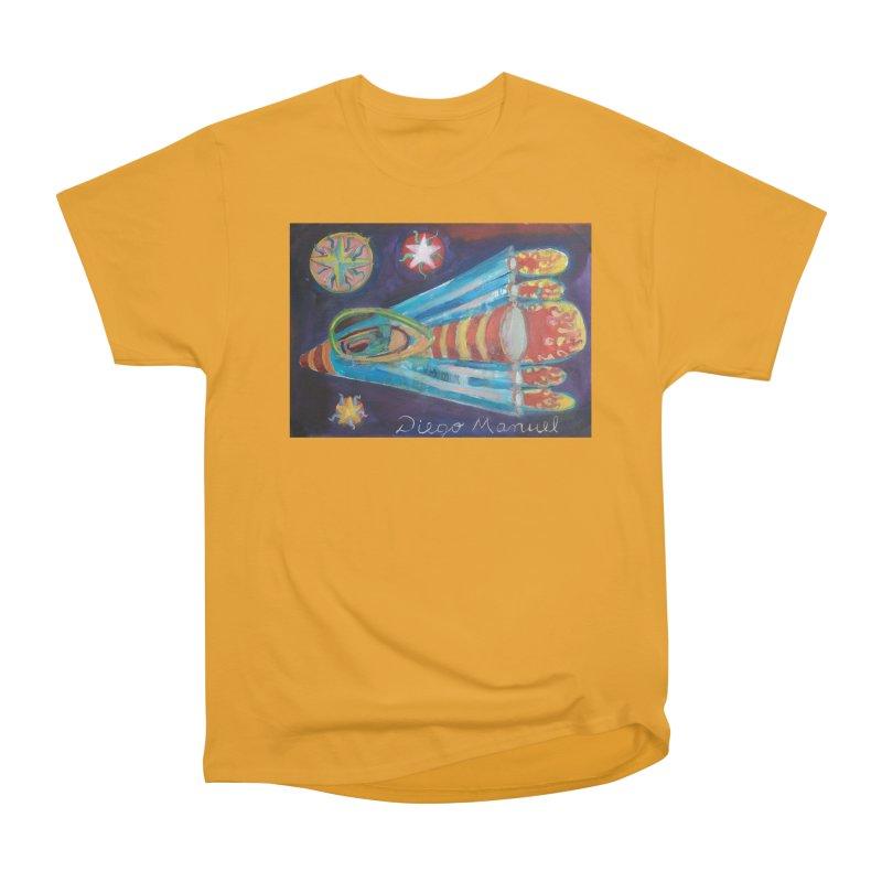 spaceship Men's T-Shirt by Diego Manuel Rodriguez Artist Shop