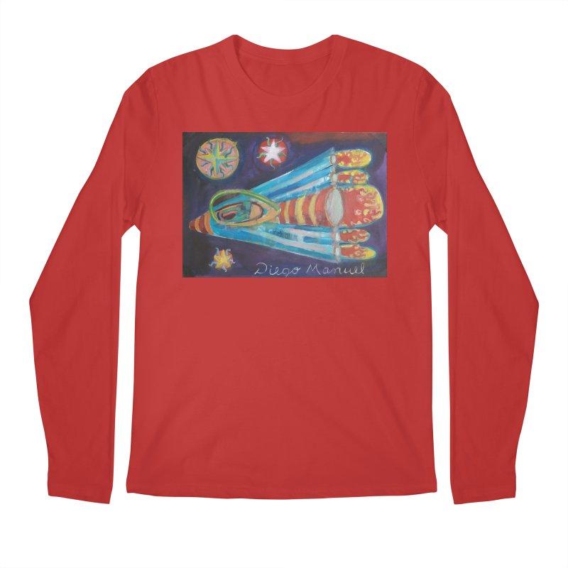 spaceship Men's Longsleeve T-Shirt by Diego Manuel Rodriguez Artist Shop