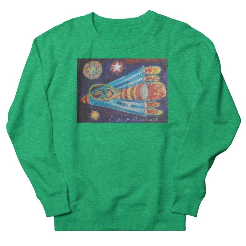 spaceship Women's Sweatshirt by Diego Manuel Rodriguez Artist Shop