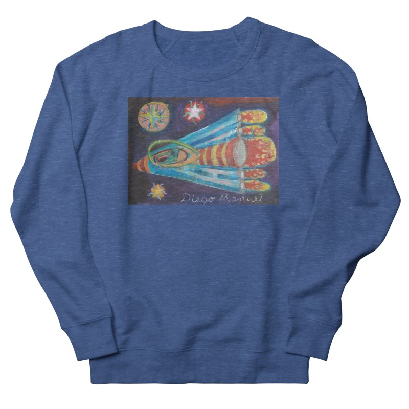 spaceship Men's Sweatshirt by Diego Manuel Rodriguez Artist Shop