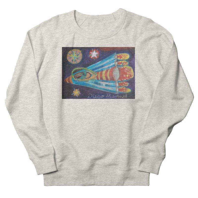 spaceship Men's French Terry Sweatshirt by diegomanuel's Artist Shop