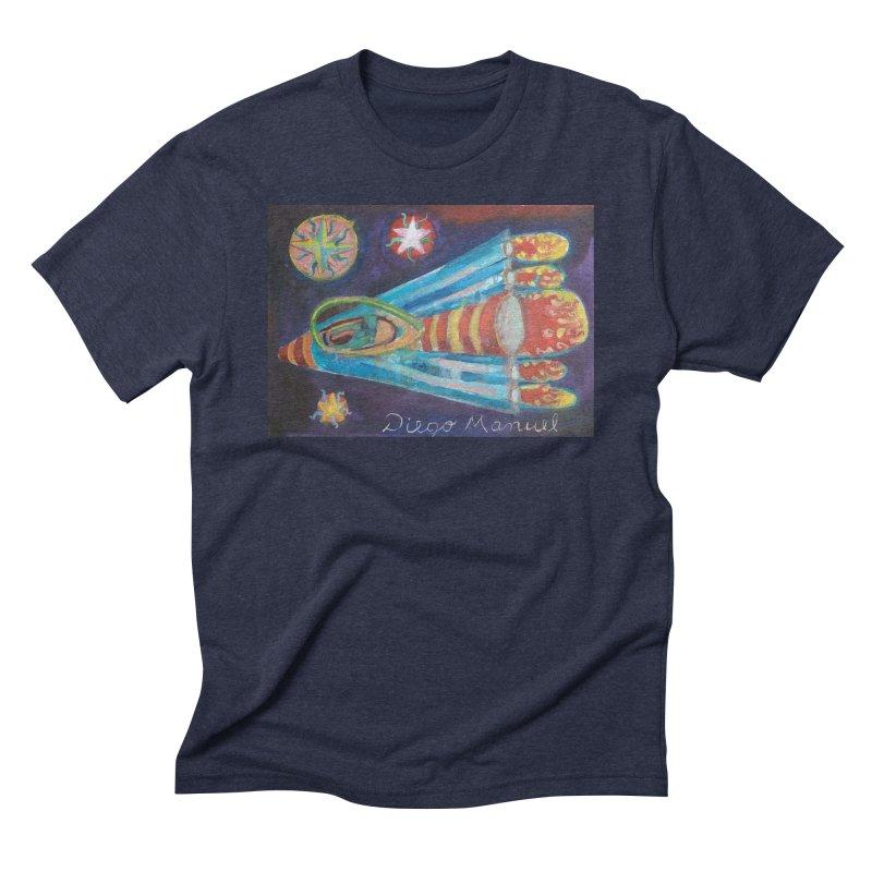spaceship Men's Triblend T-Shirt by diegomanuel's Artist Shop