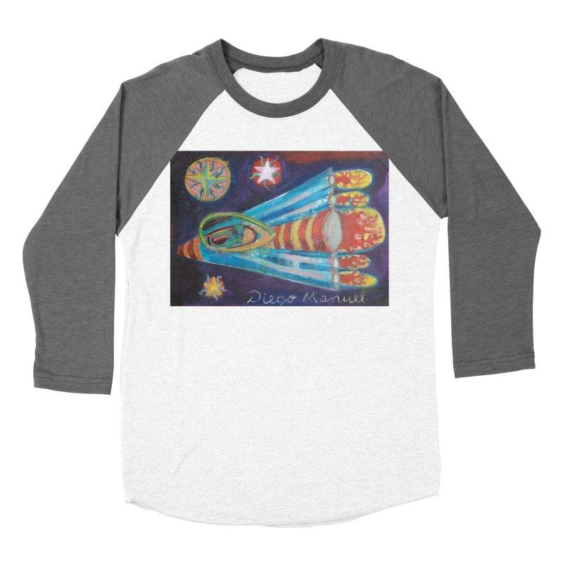 spaceship Women's Baseball Triblend Longsleeve T-Shirt by diegomanuel's Artist Shop