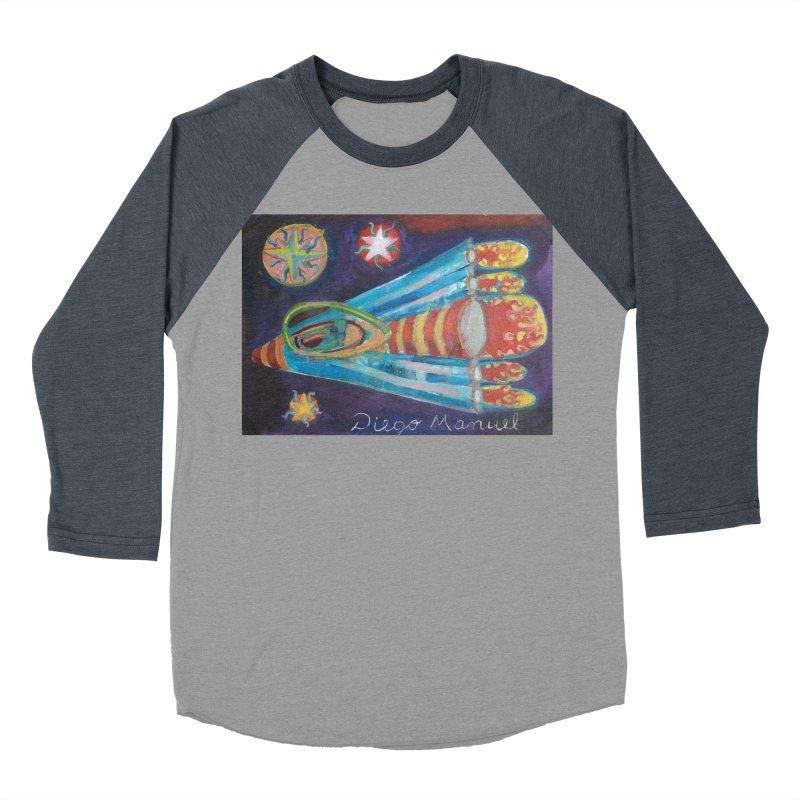 spaceship Men's Baseball Triblend Longsleeve T-Shirt by diegomanuel's Artist Shop