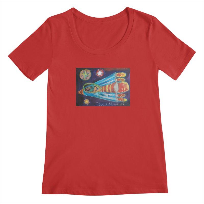 spaceship Women's Regular Scoop Neck by diegomanuel's Artist Shop