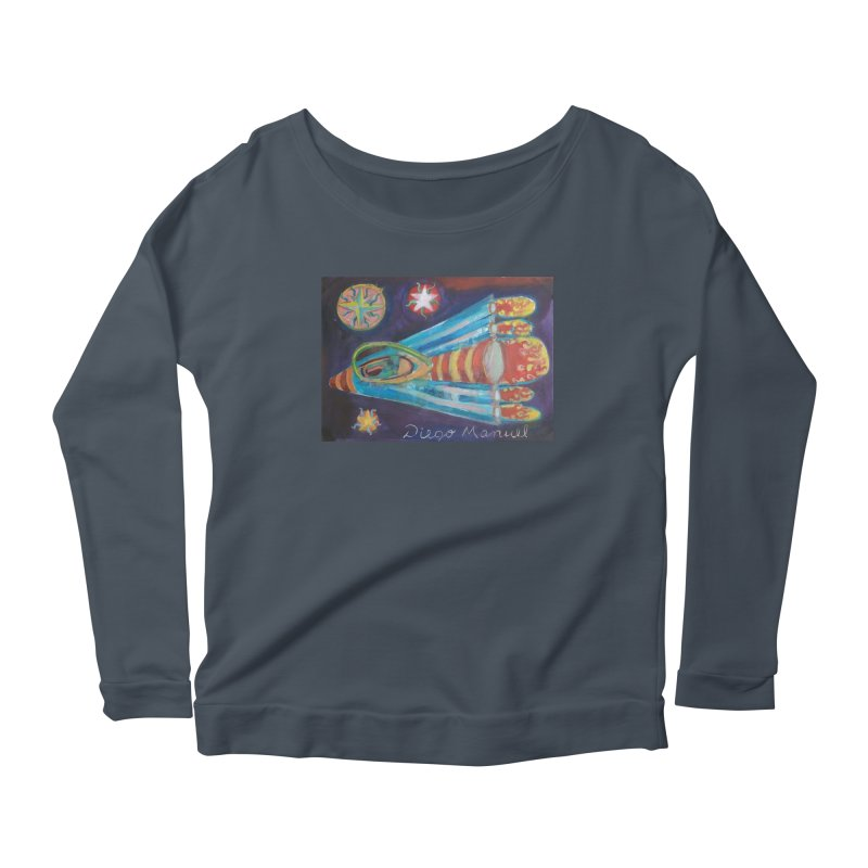 spaceship Women's Scoop Neck Longsleeve T-Shirt by diegomanuel's Artist Shop