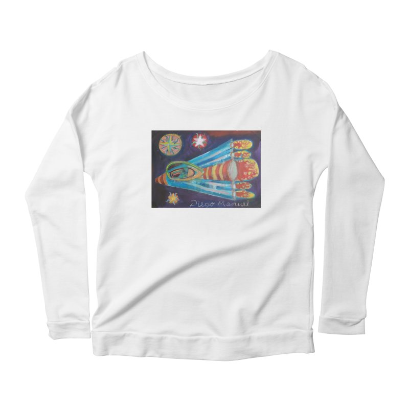 spaceship Women's Scoop Neck Longsleeve T-Shirt by diegomanuel's Artist Shop