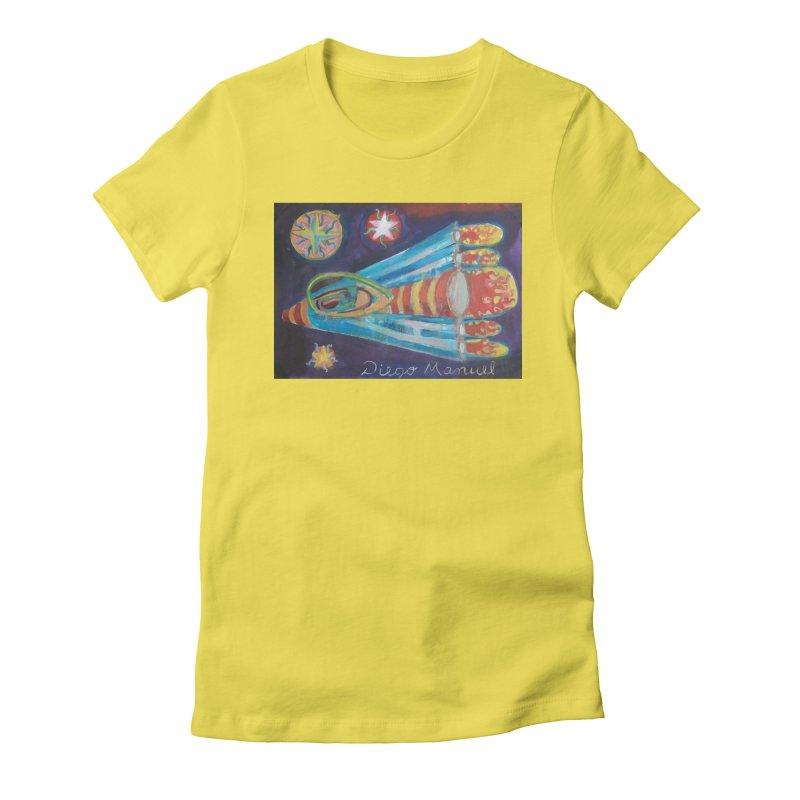 spaceship Women's Fitted T-Shirt by diegomanuel's Artist Shop