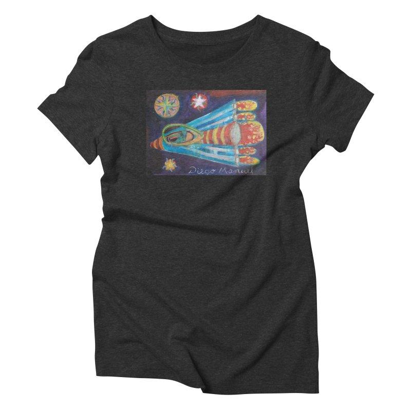 spaceship Women's Triblend T-Shirt by diegomanuel's Artist Shop