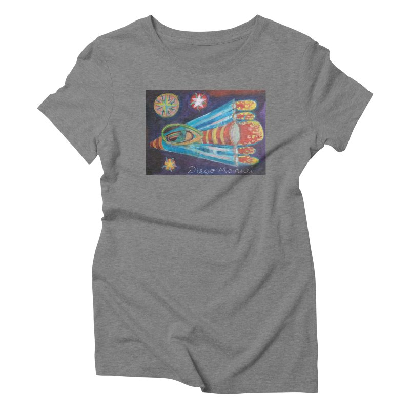 spaceship Women's T-Shirt by Diego Manuel Rodriguez Artist Shop