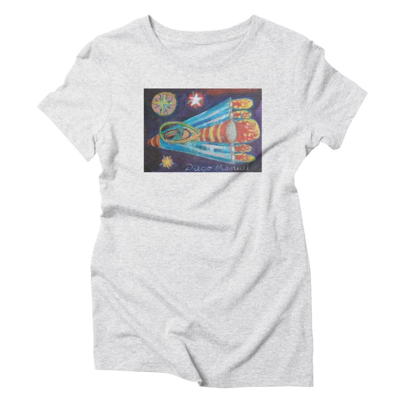 spaceship Women's T-Shirt by Diego Manuel Rodriguez Artist Shop