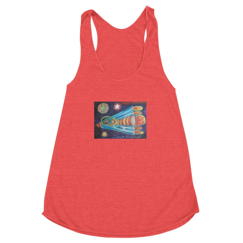 spaceship Women's Racerback Triblend Tank by diegomanuel's Artist Shop