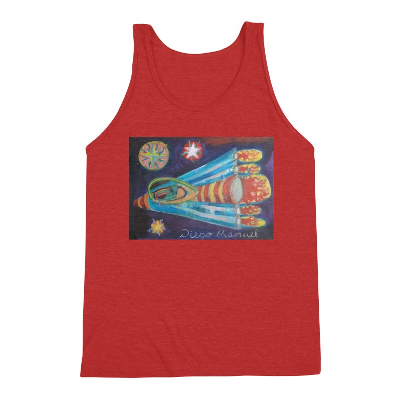 spaceship Men's Triblend Tank by diegomanuel's Artist Shop