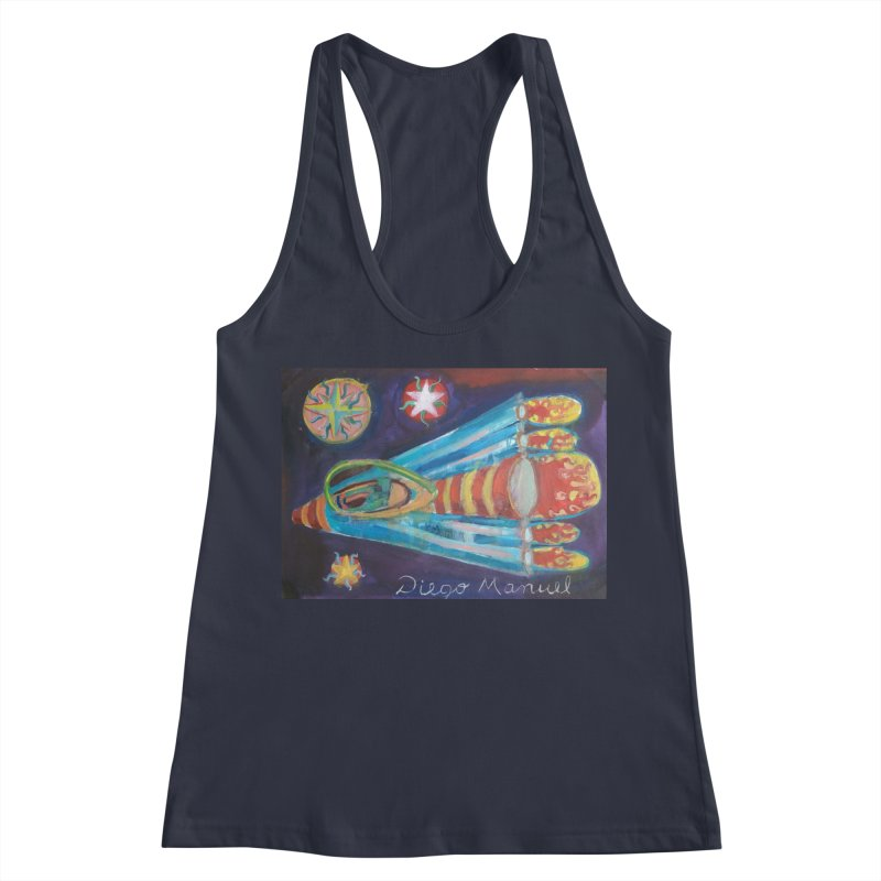 spaceship Women's Racerback Tank by diegomanuel's Artist Shop