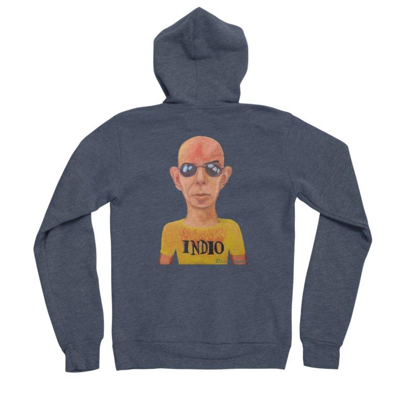 Indio rockstar Men's Sponge Fleece Zip-Up Hoody by diegomanuel's Artist Shop