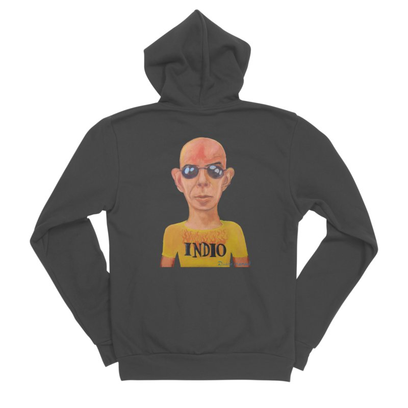 Indio rockstar Women's Sponge Fleece Zip-Up Hoody by diegomanuel's Artist Shop