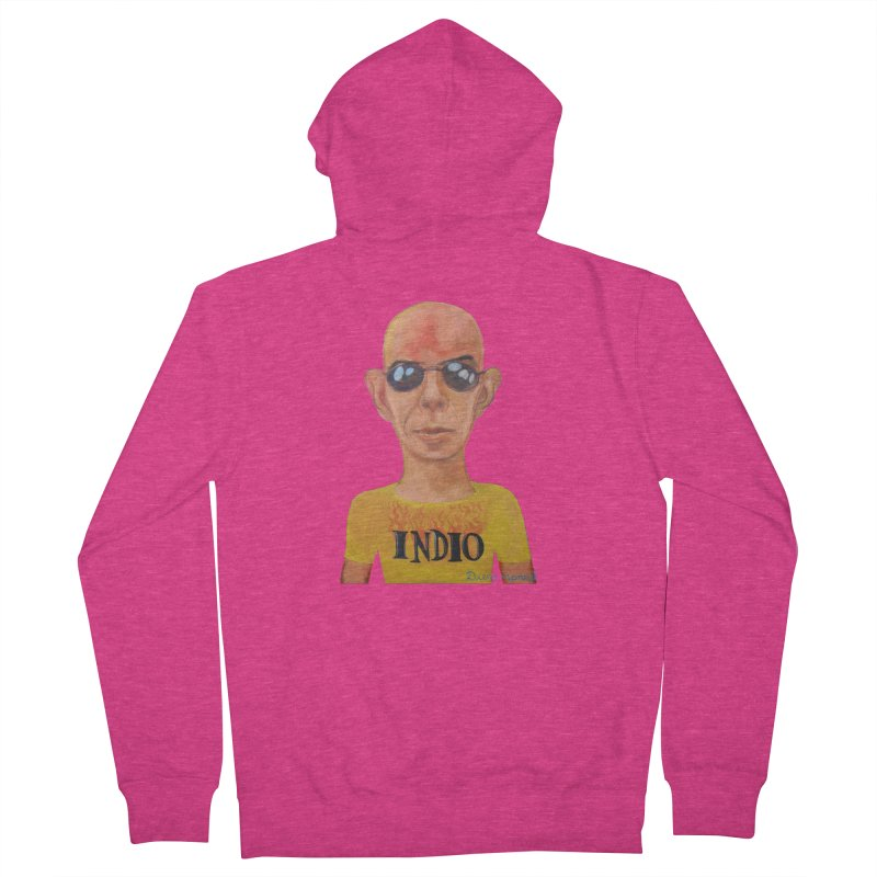 Indio rockstar Women's French Terry Zip-Up Hoody by diegomanuel's Artist Shop