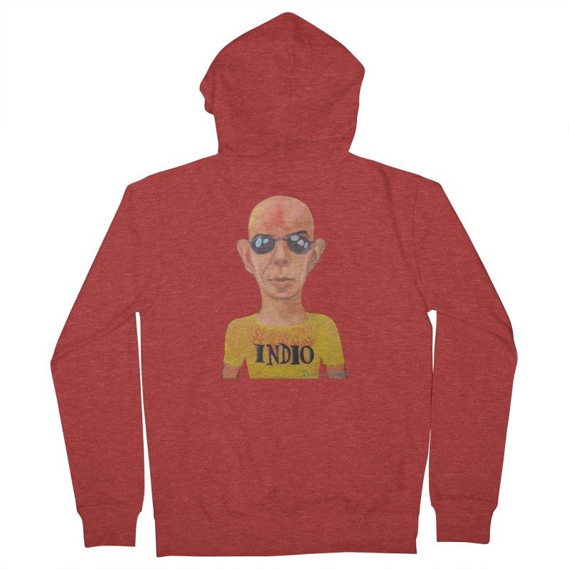 Indio rockstar Men's French Terry Zip-Up Hoody by diegomanuel's Artist Shop