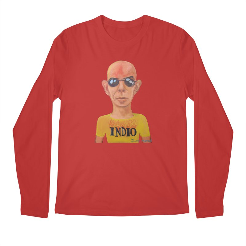 Indio rockstar Men's Regular Longsleeve T-Shirt by diegomanuel's Artist Shop