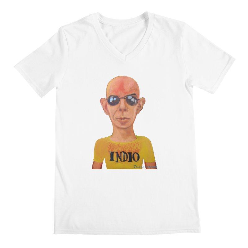 Indio rockstar Men's V-Neck by Diego Manuel Rodriguez Artist Shop