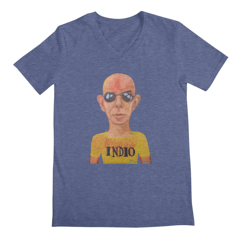 Indio rockstar Men's Regular V-Neck by diegomanuel's Artist Shop