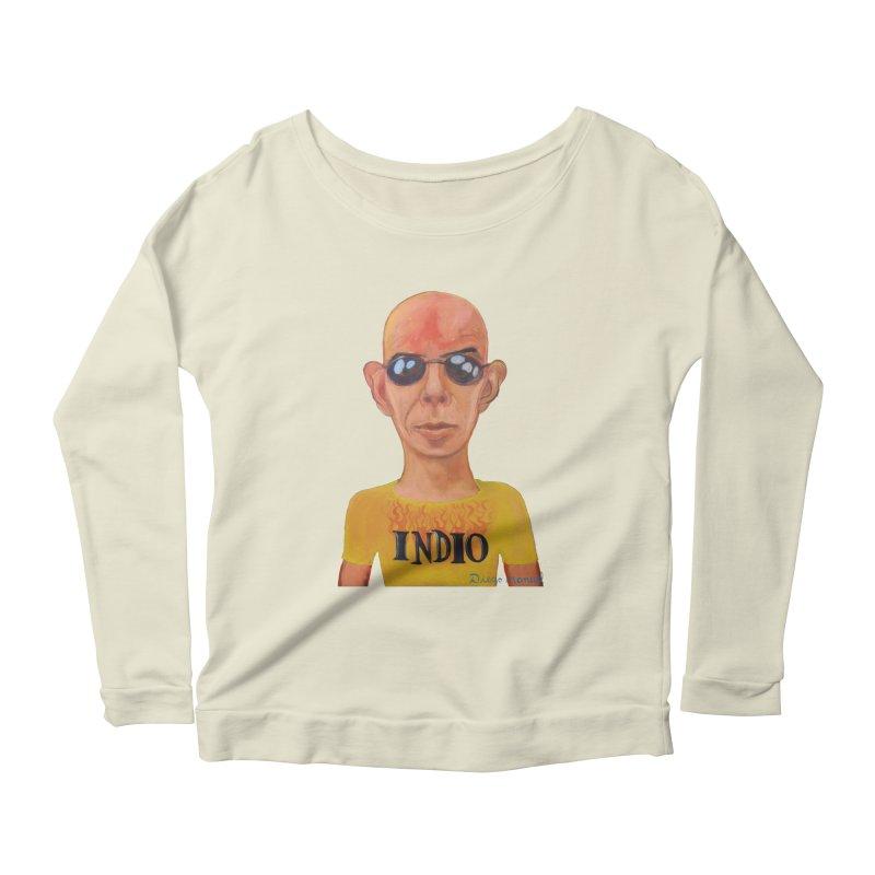 Indio rockstar Women's Scoop Neck Longsleeve T-Shirt by diegomanuel's Artist Shop