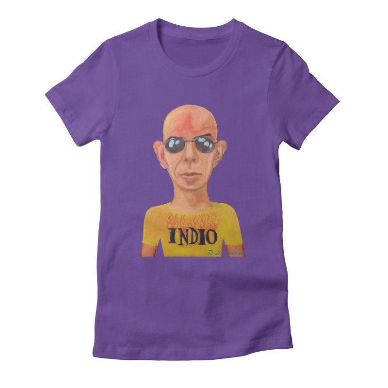 Indio rockstar Women's Fitted T-Shirt by diegomanuel's Artist Shop