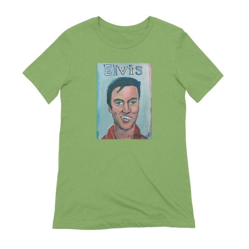 Elvis Rock Women's Extra Soft T-Shirt by diegomanuel's Artist Shop