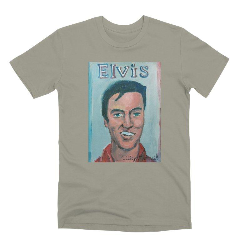 Elvis Rock Men's Premium T-Shirt by diegomanuel's Artist Shop