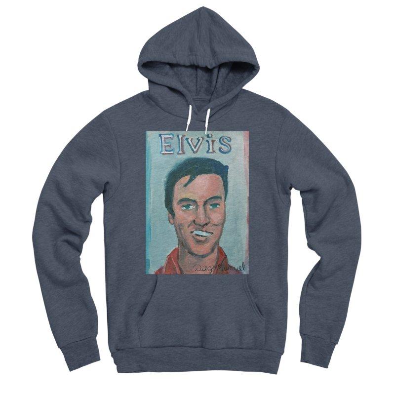 Elvis Rock Men's Sponge Fleece Pullover Hoody by diegomanuel's Artist Shop