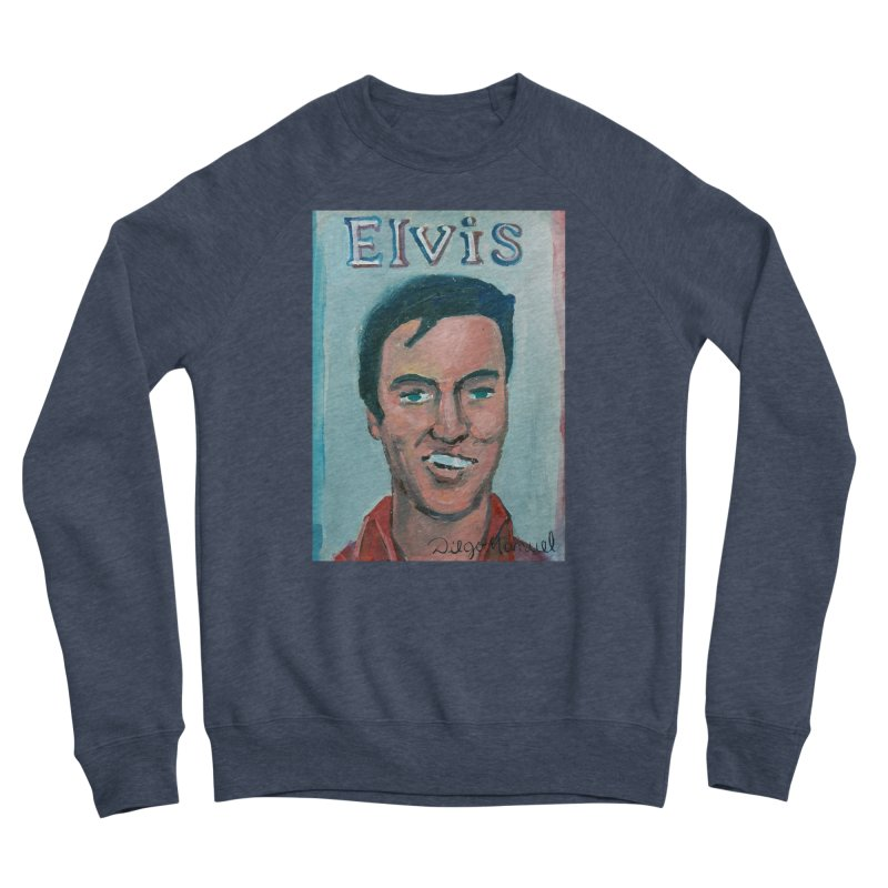 Elvis Rock Women's Sponge Fleece Sweatshirt by diegomanuel's Artist Shop