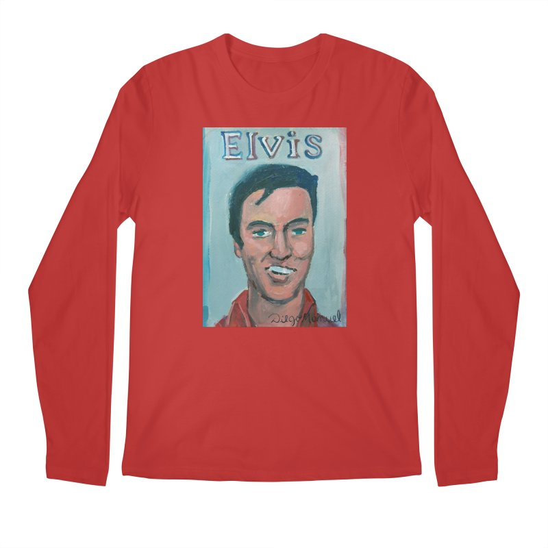 Elvis Rock Men's Regular Longsleeve T-Shirt by diegomanuel's Artist Shop