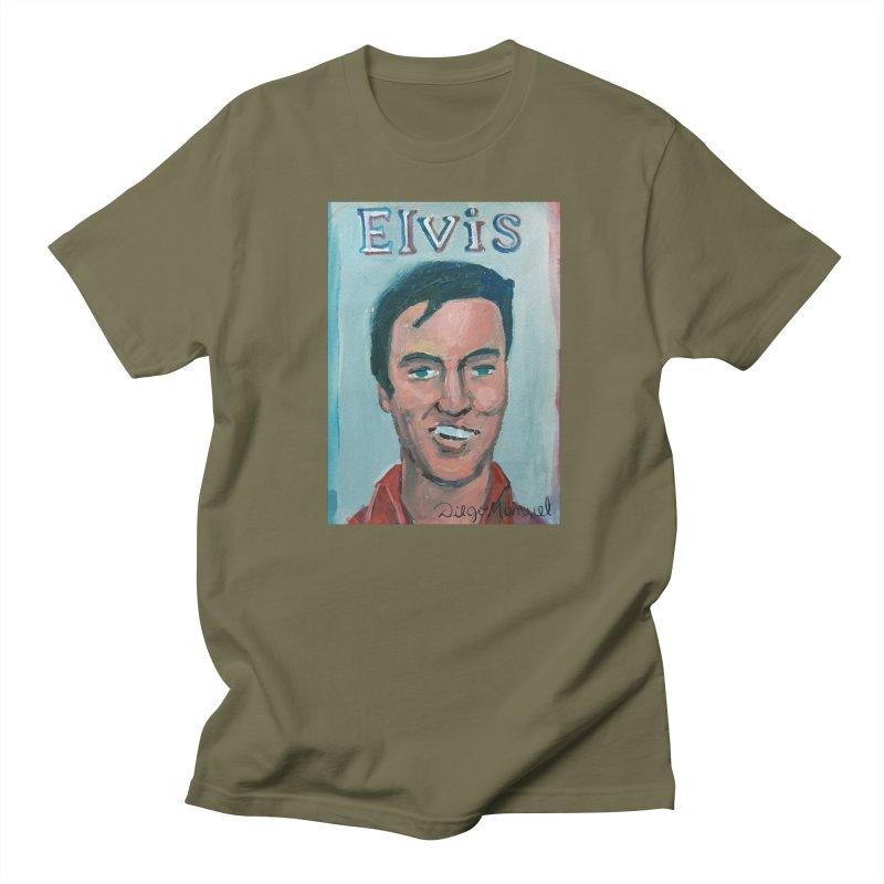 Elvis Rock Men's Regular T-Shirt by diegomanuel's Artist Shop