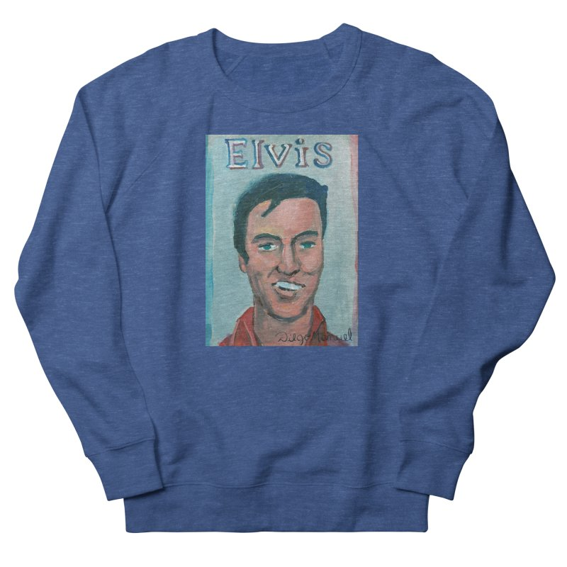 Elvis Rock Men's Sweatshirt by Diego Manuel Rodriguez Artist Shop