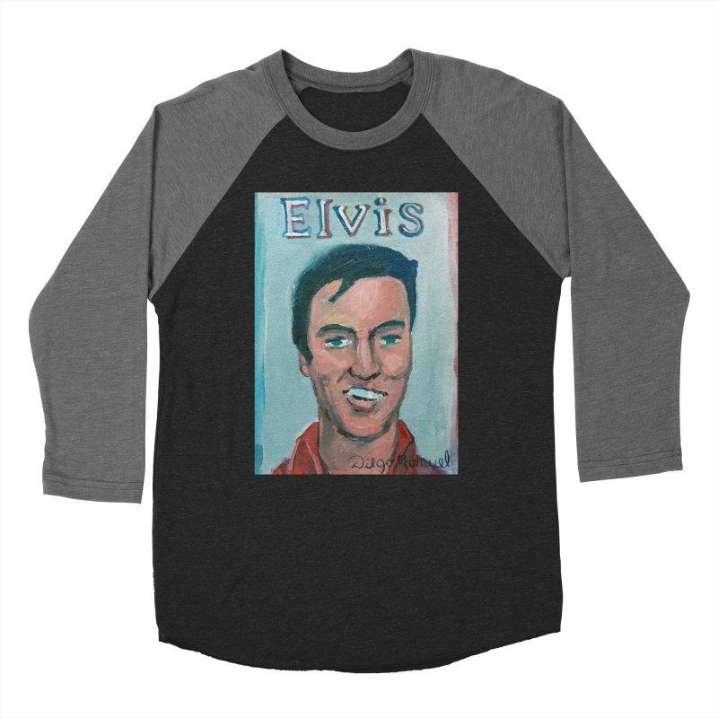 Elvis Rock Women's Baseball Triblend Longsleeve T-Shirt by diegomanuel's Artist Shop
