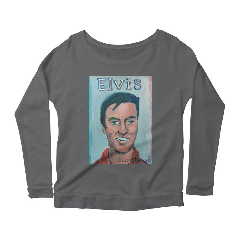 Elvis Rock Women's Scoop Neck Longsleeve T-Shirt by diegomanuel's Artist Shop