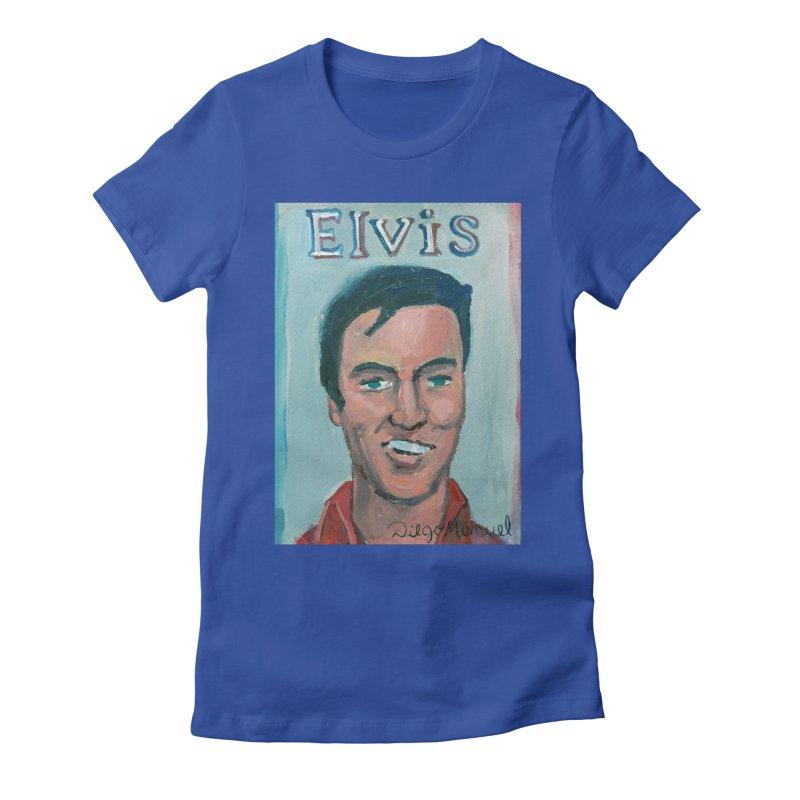 Elvis Rock Women's Fitted T-Shirt by diegomanuel's Artist Shop
