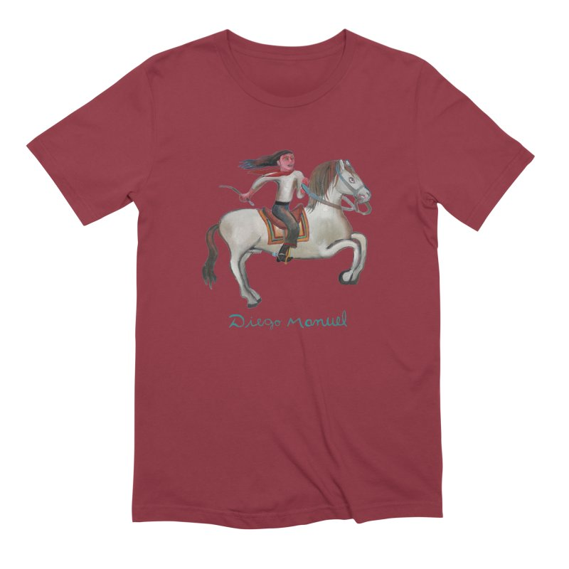 Gaucho rider Men's Extra Soft T-Shirt by diegomanuel's Artist Shop