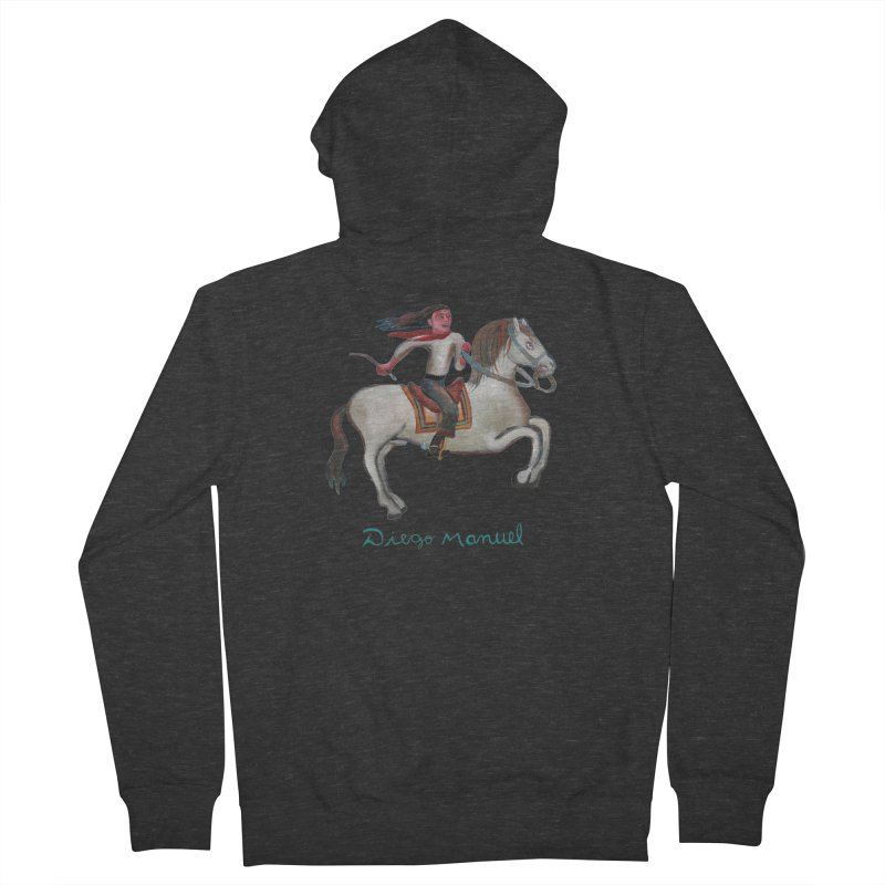 Gaucho rider Women's French Terry Zip-Up Hoody by diegomanuel's Artist Shop