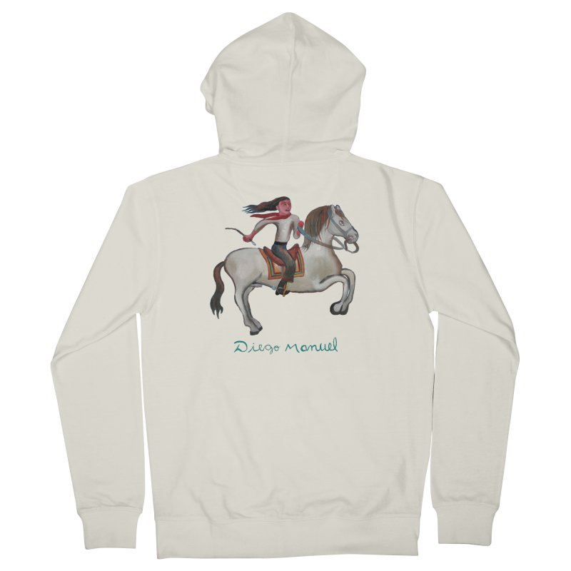 Gaucho rider Men's Zip-Up Hoody by Diego Manuel Rodriguez Artist Shop