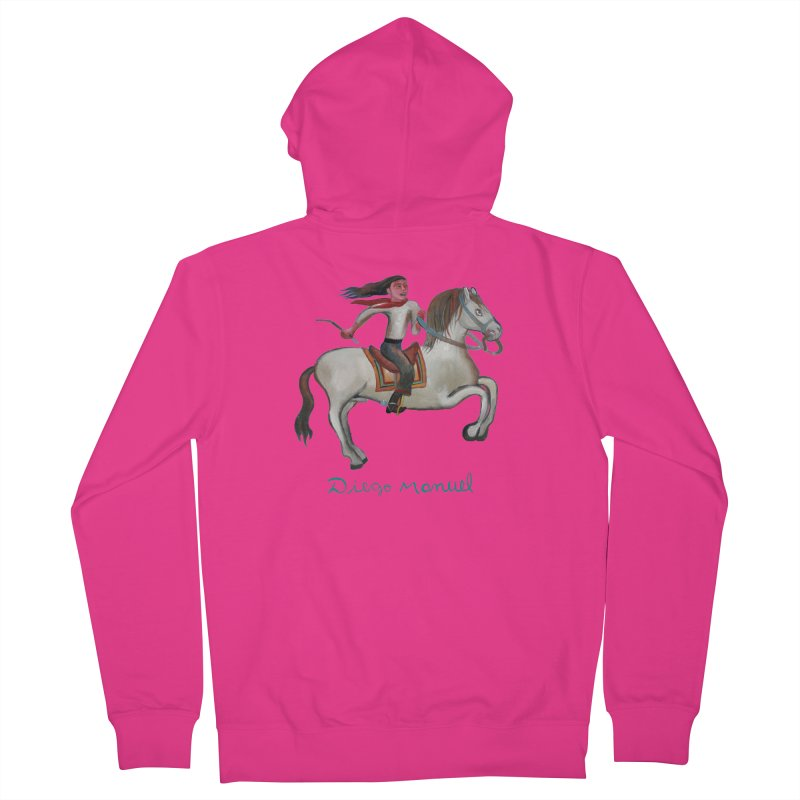Gaucho rider Men's French Terry Zip-Up Hoody by diegomanuel's Artist Shop