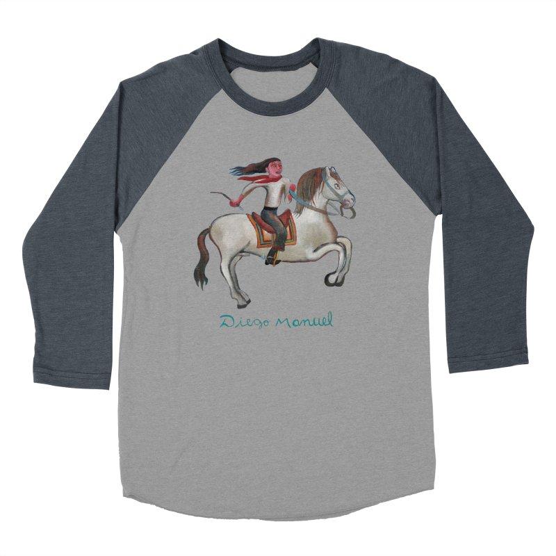 Gaucho rider Men's Baseball Triblend Longsleeve T-Shirt by diegomanuel's Artist Shop