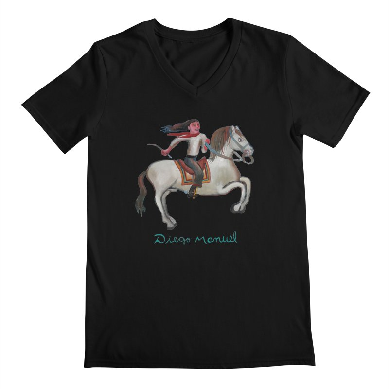 Gaucho rider Men's Regular V-Neck by diegomanuel's Artist Shop