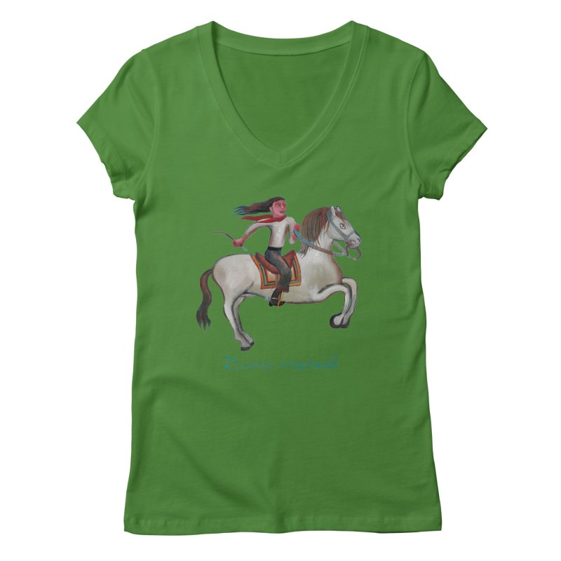 Gaucho rider Women's Regular V-Neck by diegomanuel's Artist Shop