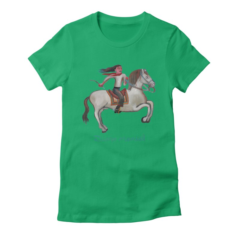 Gaucho rider Women's Fitted T-Shirt by diegomanuel's Artist Shop