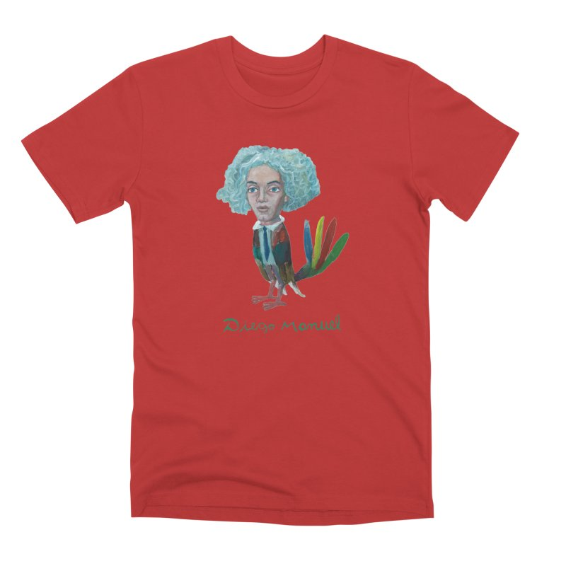 Beethoven bird 4 Men's T-Shirt by Diego Manuel Rodriguez Artist Shop
