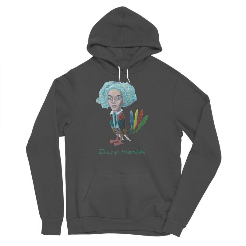 Beethoven bird 4 Men's Sponge Fleece Pullover Hoody by diegomanuel's Artist Shop